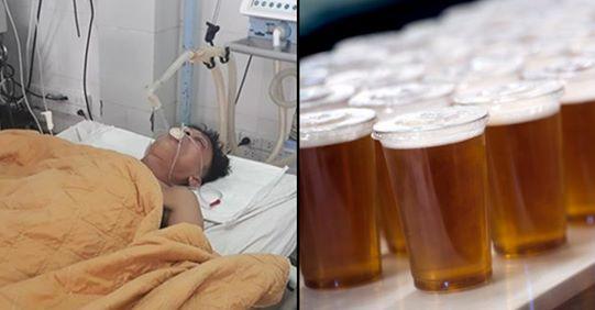 Mjekët i japin 15 birra që t i shpëtojnë jetën