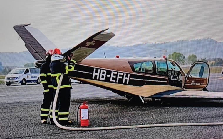 Incident në Rinas, avioni i vogël ulet në pistë pa hapur rrotat, pezullohen të gjitha fluturimet